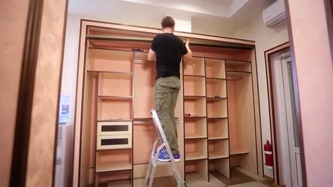 ремонт встроенного шкафа