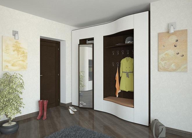 встраиваемая мебель прихожая в современном стиле
